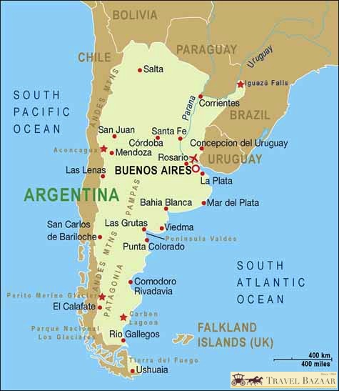 Argentina map Introduction