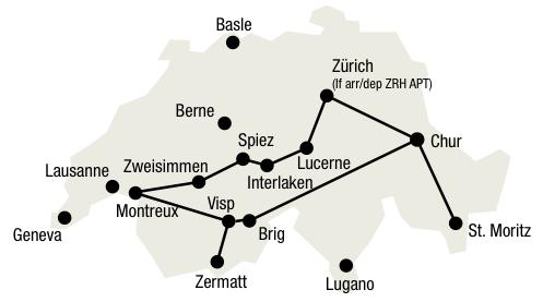Discover Switzerland1 Grand Tour of Switzerland   7 nights