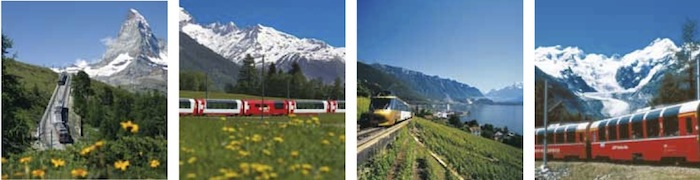 swiss trains Panoramic Trains